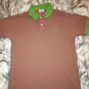 Lacoste Shirts - Vintage Lacoste pink and green polo